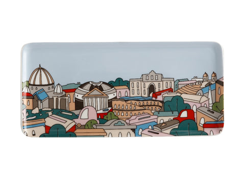 MW Megan McKean Cities Rectangle Plate 25x12cm Rome Gift Boxed