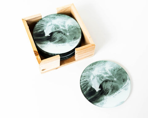 RAYELL ARTLAB GLASS COASTER DOUBLING DOWN