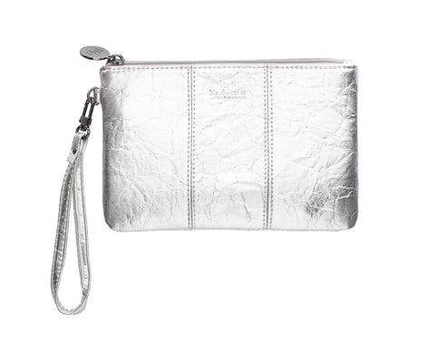 BLACK CAVIAR FLORENCE POUCH SILVER