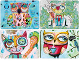 ALLEN DESIGNS WISE CRITTERS PLACEMATS SET
