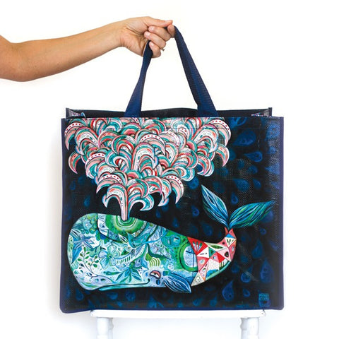 ALLEN DESIGNS WHALE B SHOPPING BAG