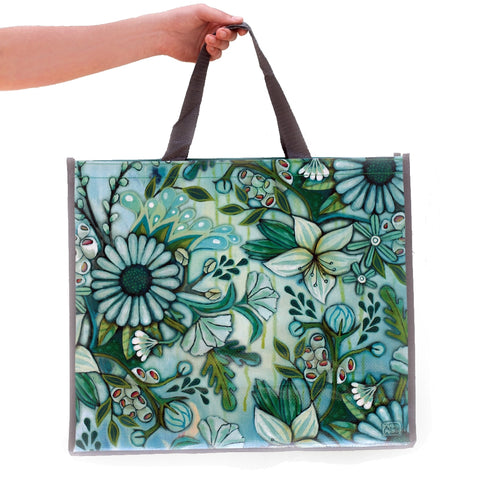 ALLEN DESIGNS FLORAL DELIGHT SHOPPING BAG