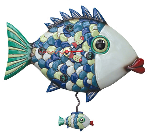 ALLEN DESIGNS FISHY LIPS CLOCK