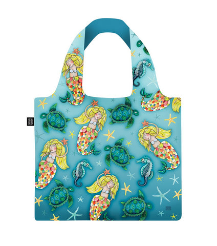 ALLEN DESIGNS MERMAID FOLDABLE SHOPPING BAG