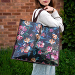 ALLEN DESIGNS MOODY FLOWERS SHOPPING BAG
