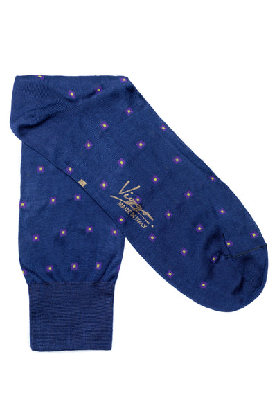 Blue Patterned Socks