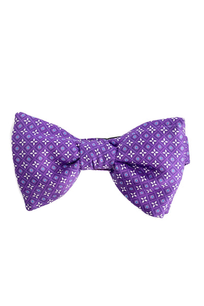 Purple Bow Tie With Floral Pattern