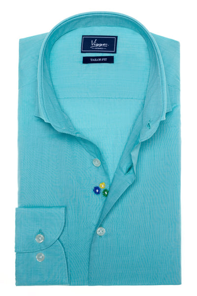 Turquoise embroidered shirt