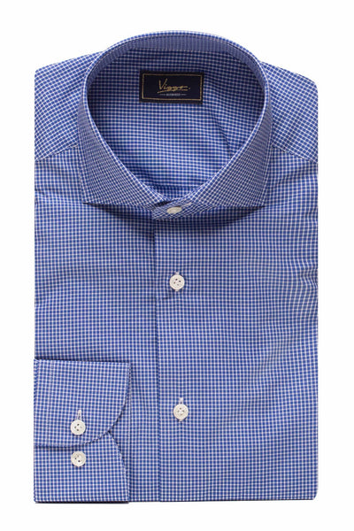 Blue Shirt With White Squares