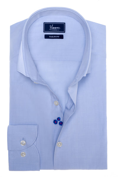 Perano blue embroidery shirt