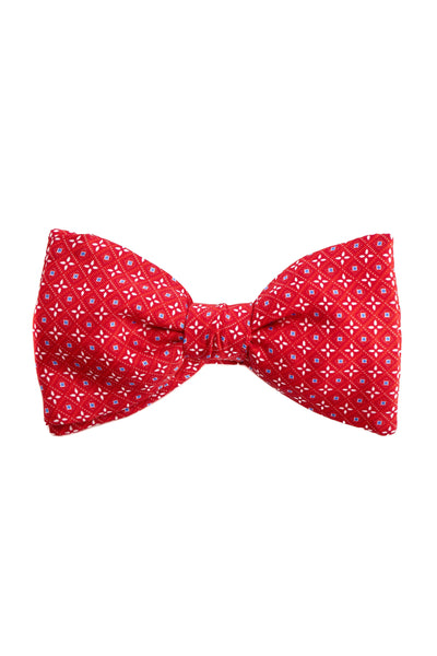 Red Bow Tie With Floral Pattern