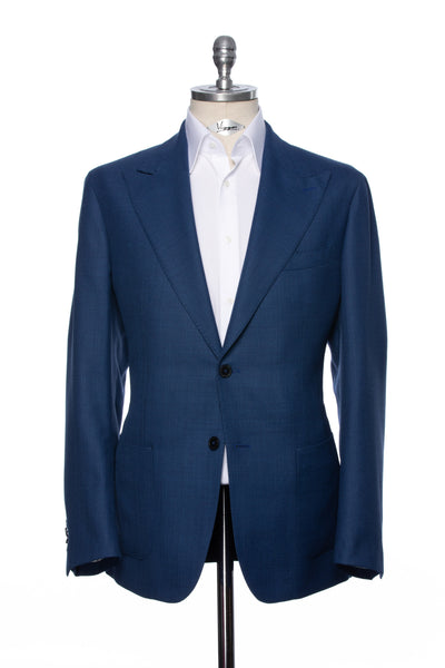 Navy Casual Jacket With Peak Lapel