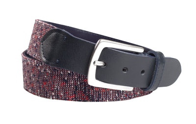 Navy Blue Textured Belt