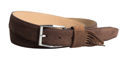 Brown Fringed Leather Strap