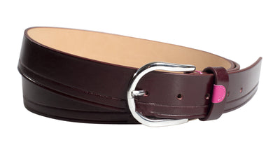 Leather Burgundy Belt Detail Pink