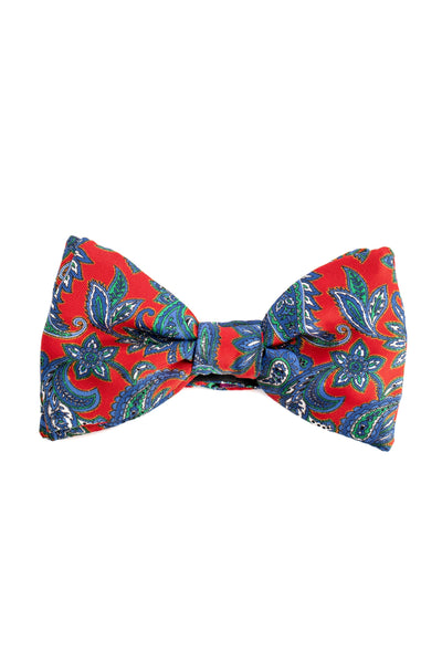 Red Bow Tie With Paisley Pattern
