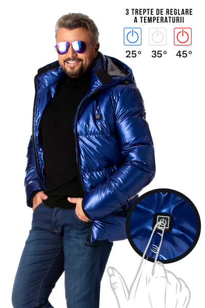 Electric blue jacket with heating