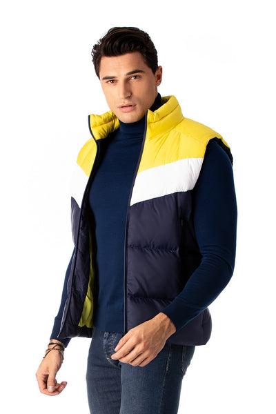 White and Yellow Navy Sport Vest