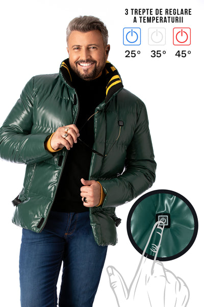 Green jacket with heating