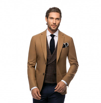 Double Breasted Brown Waistcoat
