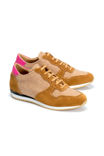 Brown Sneakers Natural Leather