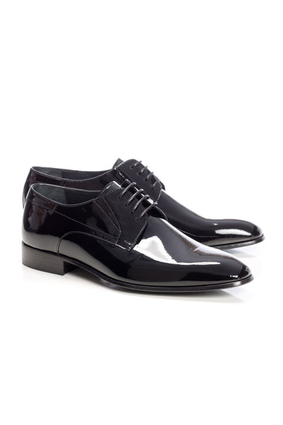 Black Patent Leather Tuxedo Shoes