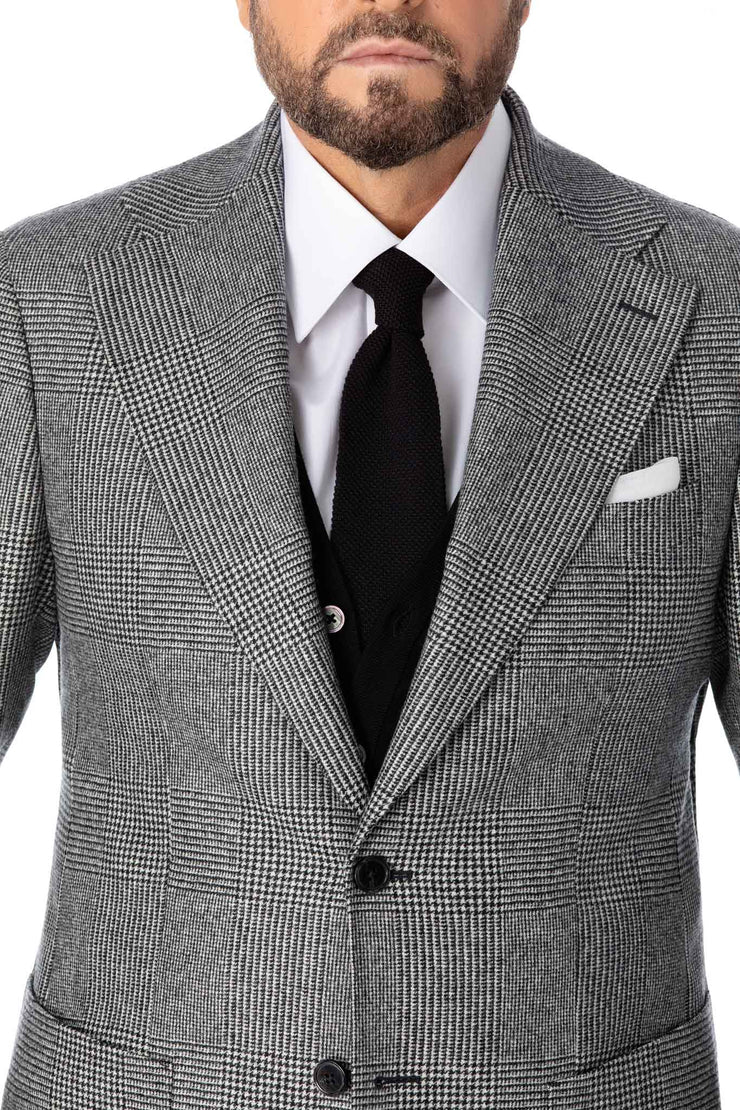 Costum doua piese in carouri Prince of Wales, tailored fit