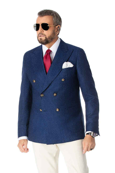 Virgin Wool Blue Jacket