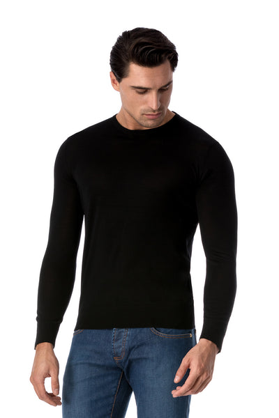 Black Merino Wool Blouse