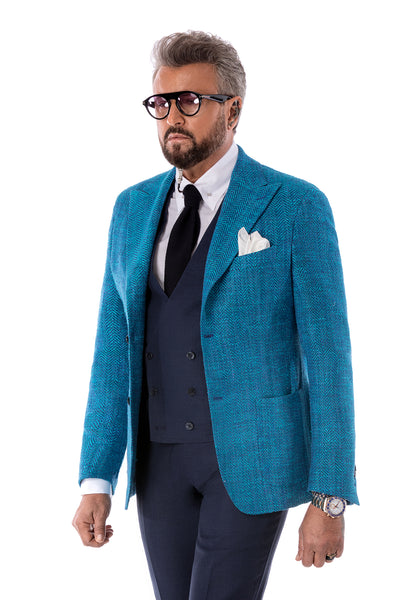 Turquoise Casual Jacket