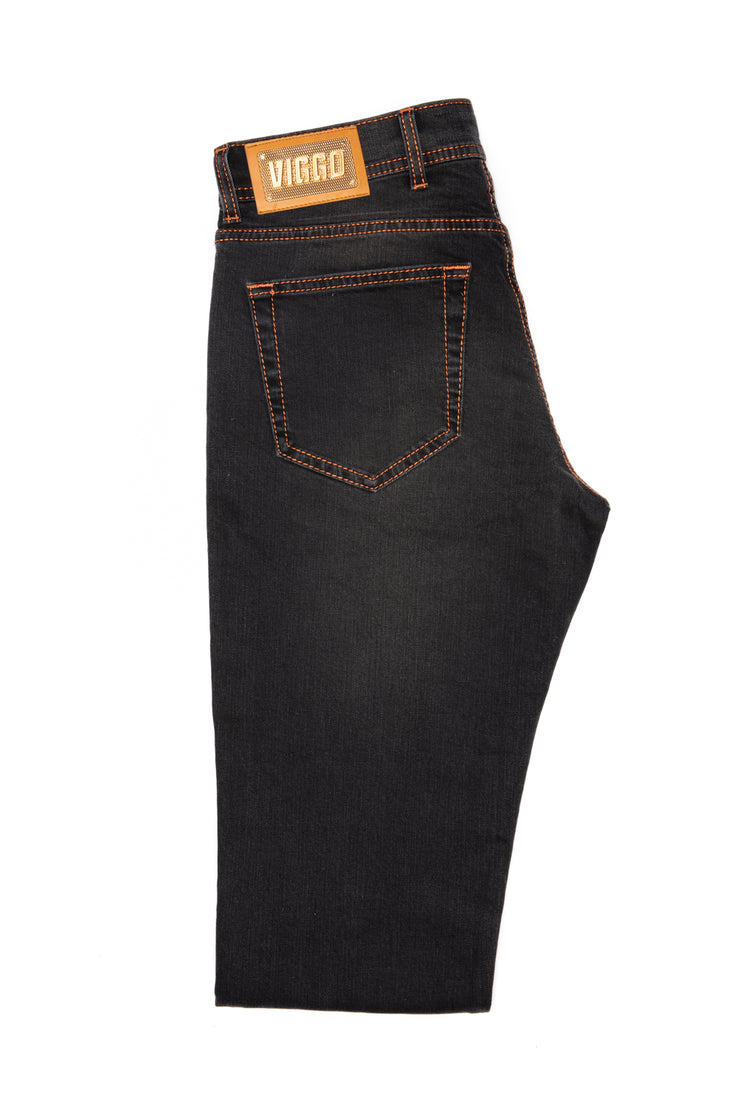 Jeans negru slim fit rose