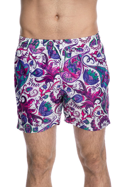 Paisley print swim shorts
