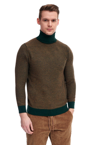 Green Sweater With Alpaca Wool