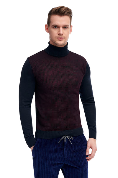 Navy Wool Sweater