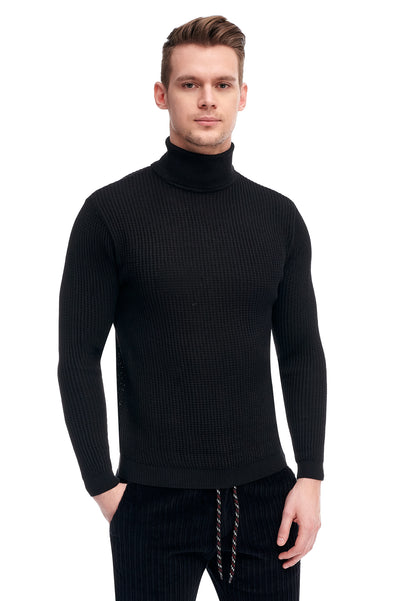 Black Sweater With High Collar