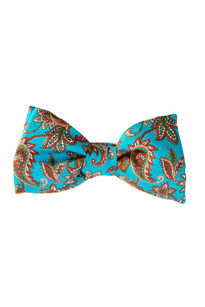 Blue Bow Tie With Paisley Pattern