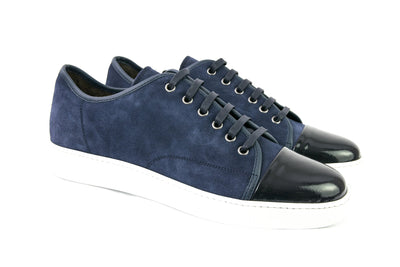 Dark Blue Leather Sport Shoes