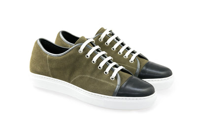 Kaki Leather Sport shoe