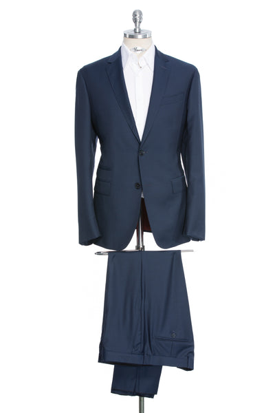 Navy tailored fit two-piece suit