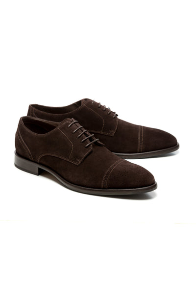 Brown Leather Shoes Turned Derby