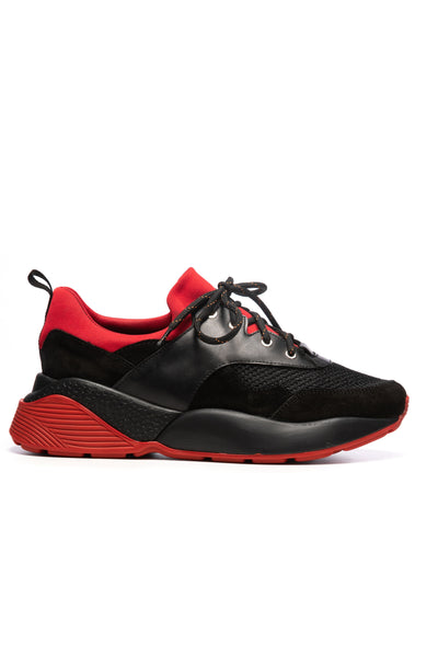 Black And Red Sport Shoes