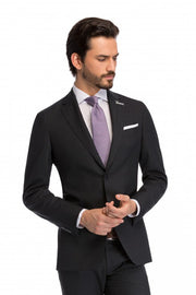 Costum doua piese gri inchis, tailored fit