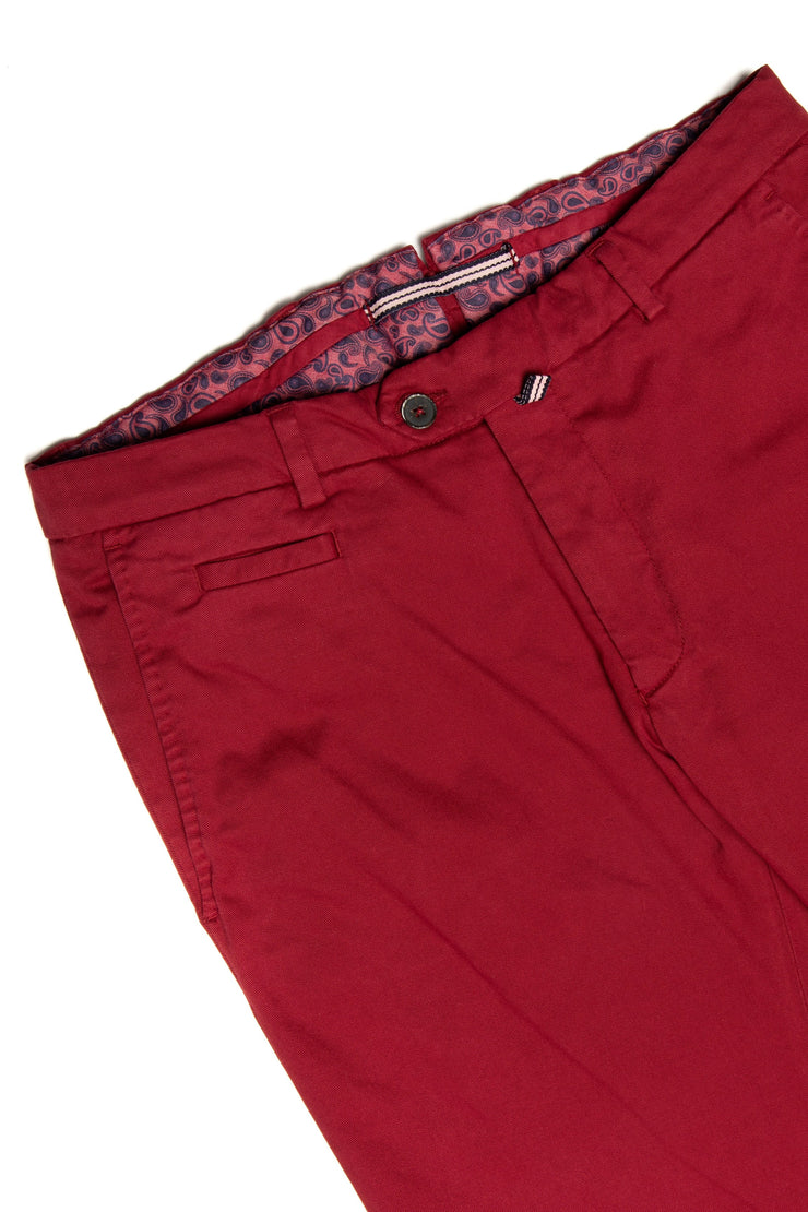 Pantalon Casual Chinos Rosu