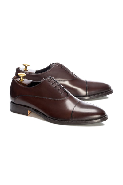 Brown Oxford Shoes With Lace