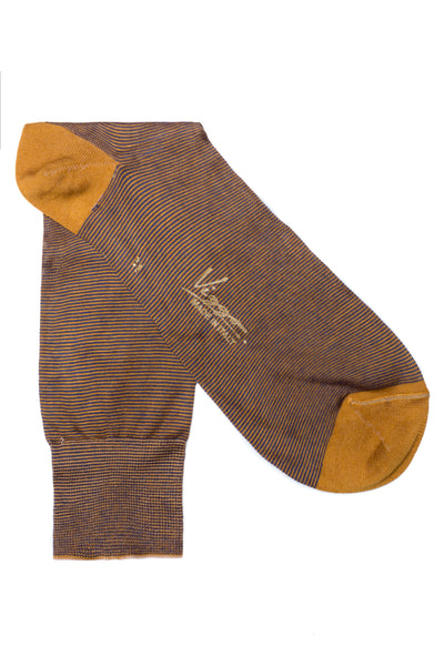 Brown Socks With Yellow