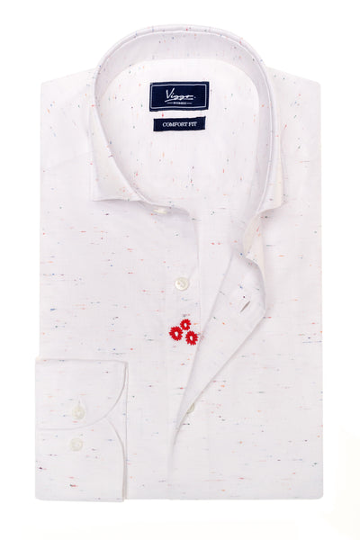 White Shirt With Multicolor Inserts