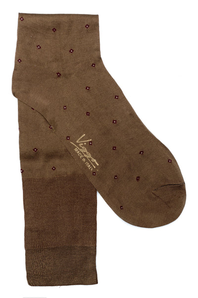 Brown Socks With Pattern