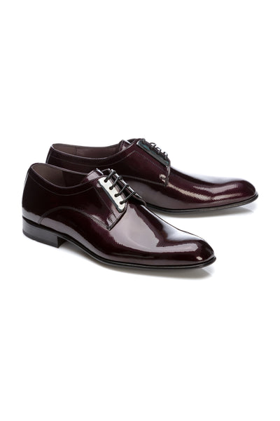 Pantofi Smoking Derby Bordo