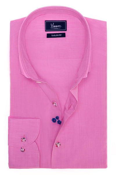Embroidered Pink Persian Shirt
