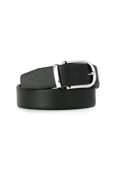 Business Burgundy / Black Leather Belt
